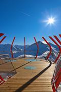 Stock Photo of Viewpoint at mountains ski resort Bad Gastein - Austria