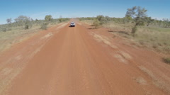 4WD Car On Australian Dirt Road - stock footage