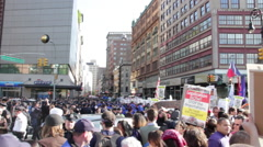Occupy Wall Street Protestors With Signs Rioting Stock Footage