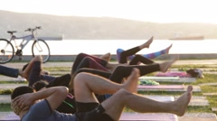 Outdoor Yoga 15 - stock footage