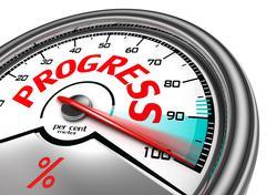 progress conceptual meter - stock photo
