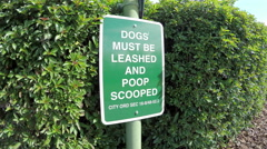 Dog Rules Sign Stock Footage