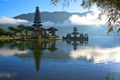Peaceful view of a Lake at Bali Indonesia - stock photo