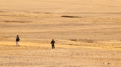 Male model with getup in Desert Stock Footage