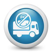 Security transport van concept icon - stock illustration
