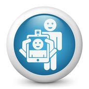 Smartphone or tablet photo digital portrait shoot Stock Illustration