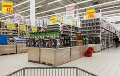 Interior of Auchan Samara Store - stock photo