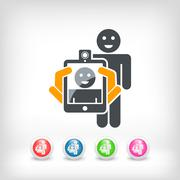 Smartphone or tablet photo digital portrait shoot - stock illustration