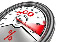 seo meter hundred per cent - stock photo