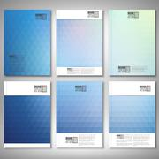 Abstract blue background, triangle design vector. Brochure, flyer or report for - stock illustration