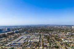 aerial of Los Angeles - stock photo