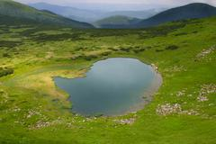Alpine lake - stock photo