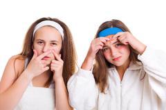 Teenager's skin problem concept Kuvituskuvat