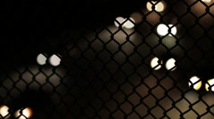 134 Highway - Headlights - Night - Chain Link Fence - stock footage