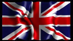 Flag of United Kingdom Stock Footage