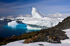 Huge iceberg in Antarctica - stock photo