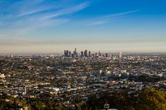 View from Griffith Observatory Day Stock Photos