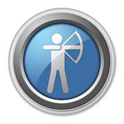 Stock Illustration of Icon, Button, Pictogram Archery