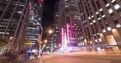 Park Avenue time-lapse, New York Stock Footage