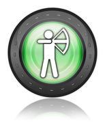 Stock Illustration of Icon, Button, Pictogram Archery