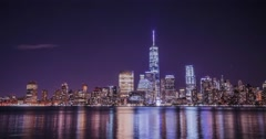 New York City at night time-lapse Stock Footage