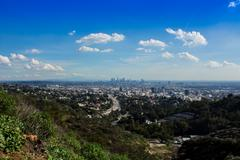 View from Hollywood Bowl Overlook, Los Angeles CA Stock Photos