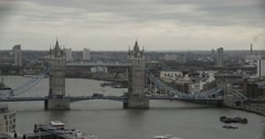 Tower Bridge at Day from High Angle | 4K Timelapse Stock Footage