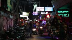 Red-light district in Pattaya, Thailand Stock Footage