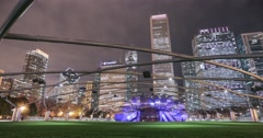 Jay Pritzker Pavilion Chicago time lapse Stock Footage