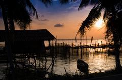 Homestay in riverside Songkla Thailand Stock Photos