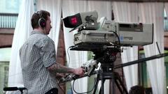 Videotape operator Stock Footage