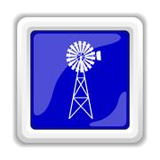 Classic windmill icon. Internet button on white background.. Stock Illustration