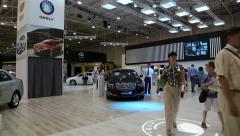 Geely at yearly automotive show Stock Footage