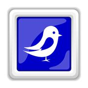 Bird icon. Internet button on white background.. Piirros