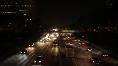 134 Highway - Car Lights - Night - Wide Shot - stock footage