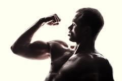Handsome athlete - stock photo