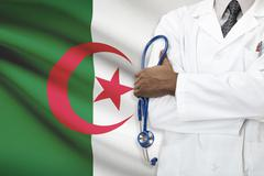 Concept of national healthcare system - Algeria - stock photo