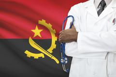 Concept of national healthcare system - Angola - stock photo