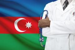 Concept of national healthcare system - Azerbaijan - stock photo