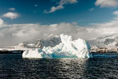Antarctic glacier - stock photo