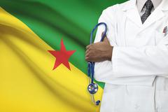 Concept of national healthcare system - French Guiana - stock photo