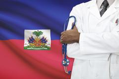 Concept of national healthcare system - Haiti - stock photo