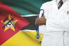 Concept of national healthcare system - Mozambique - stock photo