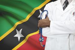 Concept of national healthcare system - Saint Kitts and Nevis Stock Photos