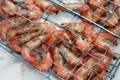 Freshwater prawn seafood. - stock photo