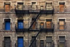 Fire escape facade Stock Photos