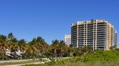 Beachfront condos Miami Beach 4k Stock Footage