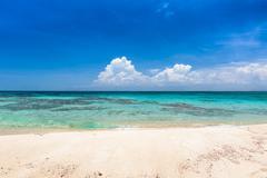 Paradisaical Caribbean island with white sand beach. Los Roques, Venezuela - stock photo