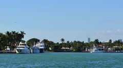 4k Luxury homes and yachts Miami Stock Footage