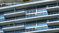 Building blue balconies 4k Stock Footage